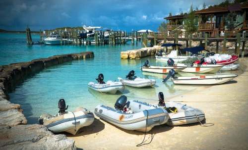 Rush Hour at Staniel Cay Yacht Club, Exuma, Bahamas